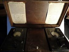 WWII USS HANNA DE-449 Model OE-12 Radio Receiver Analyzing Kit Weston