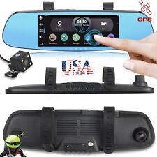 "Android 7"" HD 1080P Dual Lens Car DVR Camera Rearview Mirror Wifi GPS Navigation"