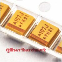 20pcs Tantalum chip capacitors 6.3V 100UF 3528 accuracy 10%