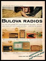 1959 BULOVA Clock and Portable Transistor Radio Photo AD 6 models shown w/prices