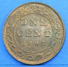 1902 Edward VII Large One Cent Canadian Coin Brilliant Uncirculated BU