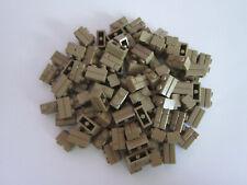 LEGO VRAC PIECES 98283 100 X BRIQUE MASONRY 1X2 LIGHT DARK TAN NEUF