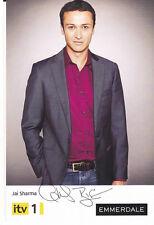 Emmerdale CHRIS BISSON Signed TV Cast Card Jai Sharma