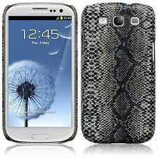 Per Samsung Galaxy S3 i9300 Pelle di Serpente PU Pelle HARD BACK CASE COVER