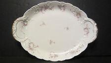 """Large 19"""" Antique Victorian Theodore Haviland Limoges Floral Serving Platter"""