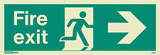 Jalite Photoluminescent Emergency Exit Sign Right Arrow