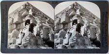 Keystone Stereoview Climbing Great Pyramid, Giza, EGYPT from the 1920's 400 Set