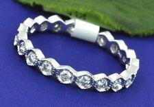 0.55 ct 14k White Gold Eternity Diamond  Ring Anniversary   Honeycomb Design