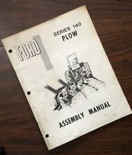 Ford Series 140 Plow Assembly Manual Setup