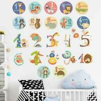 Animal Numbers Kid Removable Wall Sticker Decal Baby Cot Nursery Decor Art Mural