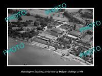 OLD LARGE HISTORIC PHOTO OF MANNINGTREE ENGLAND, THE DALGETY MALTINGS c1950