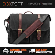 ONA BRIXTON WAXED CANVAS MESSENGER BAG (BLACK) (ONA5-013BL)
