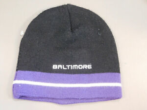 Baltimore Ravens Stretch Knit Hat Cap, One Size, NWOT
