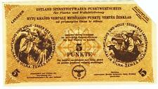 Lithuania -5  Punkte 1943/44, canceled