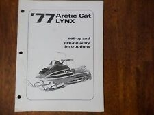 1977 Arctic Cat Lynx Snowmobile Set Up And Predelivery Instructions Manual