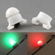 NEW Quality 2 Size in 1 Night Fishing Rod Tip Clip on Fish Bite Alarm LED Light@