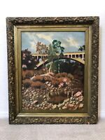 🔥 Antique California Plein Air Impressionist Oil Painting, Pasadena Arroyo Seco
