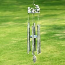 Whimsical Frog Choir Tube Metal Garden Wind Chime, 30'H.