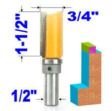 """1 pc 1/2"""" Shank 3/4"""" Diameter 1-1/2"""" Blade Top Bearing Pattern Trim Router Bit S"""