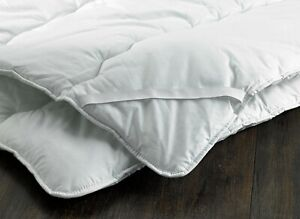 D&P CO HOTEL LUXURY MATTRESS TOPPER 100% Cotton Cover MADE IN UK Anti-Allergy
