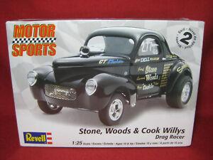 Willys Drag Racer Stone Woods Cook Supercharged Hemi Gasser Revell 1:25 Kit 2032