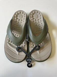 Crocs Army Green Reviva Flip M10/W12 205545-3TQ