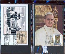 STAMPS 2 CARD MAXIMUN VATICAN CITY POPE (L7293)