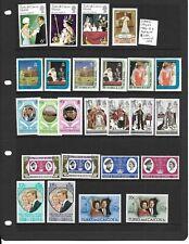 Turks & Caicos Islands 1966-82 Royalty 8 sets + single mint
