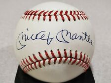 Mickey Mantle Autographed Baseball HOF Beckett COA BAS BGS Graded Mint 9