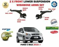 FOR FORD C MAX 2010 >NEW 2X FRONT LOWER LEFT RIGHT SUSPENSION WISHBONE ARMS SET