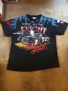 Rare Vintage 1990s Dale Earnhardt Black Knight All Over Print Shirt XXL 2XL