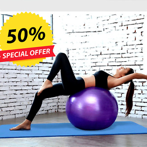 EXERCISE FOR TUNE UP THERAPY YOGA BALL CHAIR,SWISS FITNESS ANTI BURST+PUMP GYM