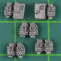 Astra Militarum Cadian Shock Troops Tachen Handgranaten Warhammer 40K Bitz 4283
