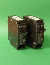 CUTLER HAMMER BD2020 Circuit Breaker 20 AMP 2 Pole **Lot of 2**