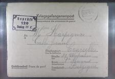 Camp Stalag IVC Wistritz 1943 POW Prisoner Belgium Kriegsgefangenenpost L120