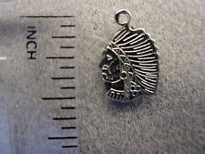12 pieces Nickel Silver Indian Head Blackhawks Charm Jewelry NEW Made in USA #59