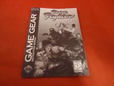 Vintua Fighter Animation Sega Game Gear Instruction Manual Booklet ONLY