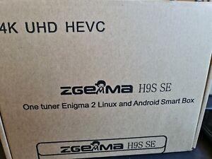 2021- GENUINE Zgemma H9S SE 4K  1x DVB-S2X - Android / Enigma2 plug and play