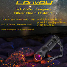 CONVOY S2 LG 365nm UV LED BEST MINERAL FLASHLIGHT (More Power than S2+ Nichia)