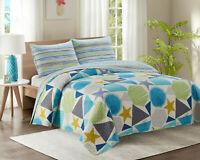 KIPLUX Luxury King Bed Quilted Bedspread Throw Two Pillowcases Reversible YJ17K
