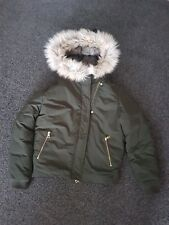 Next fur hood bomber jacket size 14
