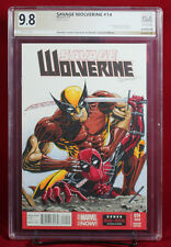 WOLVERINE vs. DEADPOOL PGX (not CGC) 9.8 NM/MT Sketch Cover by DOMINIC LEVERT!!!