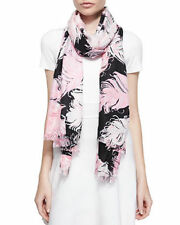 NEW Kate Spade New York Regal plumes Feather printed scarf Shawl-