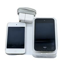 Pair Apple iPod Touch 4th Gen A1367 8GB White & 16GB Black MP3 Player