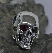 dr. skull Ketten Anhänger 925Silber echt Granat Augen Totenkopf Biker Gothic 04