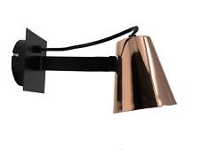 Bedside wall light Adjustable with Rocker Switch,  Copper & Black