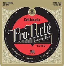 D'Addario EJ45C Pro Arte Classical Composites Guitar Strings. Precision Made !!