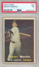 1957 TOPPS BASEBALL MICKEY MANTLE CARD #95 PSA 1 (547 P18)