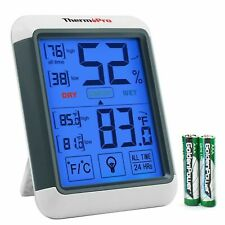 ThermoPro TP55 Indoor Thermometer Humidity Monitor with Jumbo Touchscreen