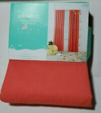 "Pillowfort Light Blocking Curtain Panel Melon Twill 42"" x 84"" Red Energy Saving"